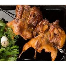 Цыпленок(корнишон) на мангале