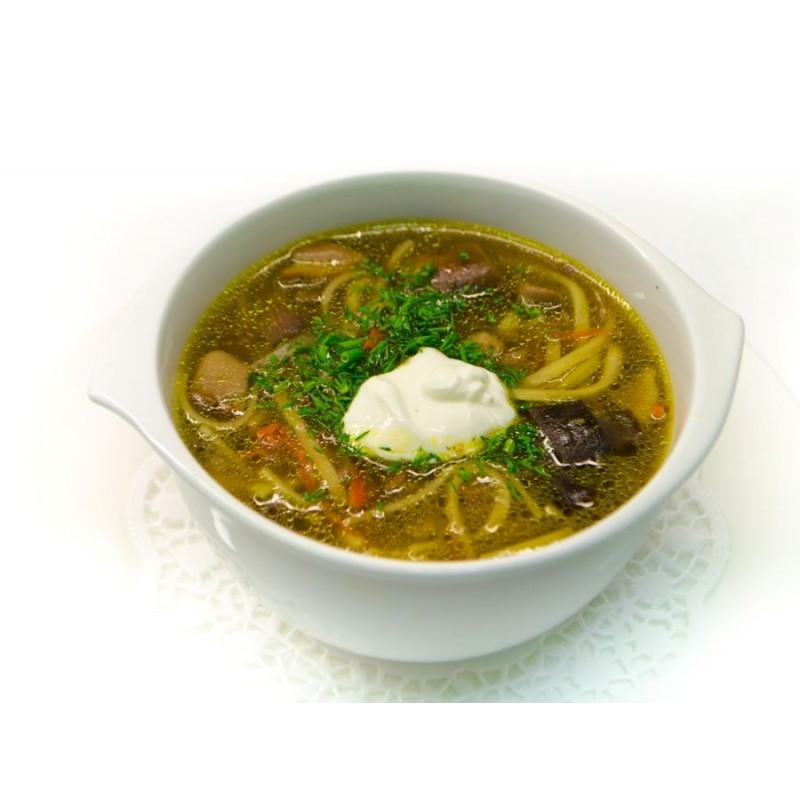 суп грибной с лапшой